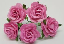 PINK ROSES (2.5 cm) Mulberry Paper Roses